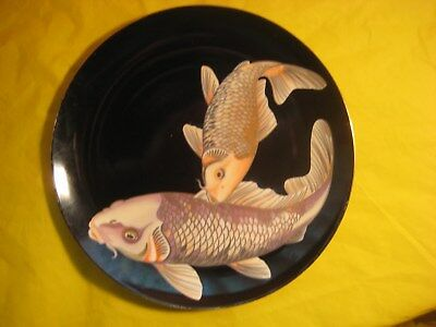 "Fitz And Floyd 9 1/4"" Dinner Plate ""koi Pond"" Pattern"