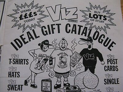 Viz comic Ideal Gift Catalogue leaflet