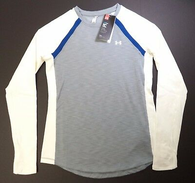 Under Armour women Coldgear crew neck training fitted shirt S M 1281244 025 NWT