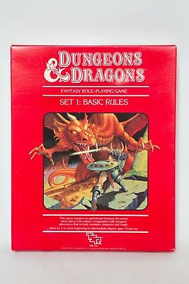Vtg D&D Set 1 Basic Rules Box TSR 1011 1983 Dungeons and Dragons Unused New