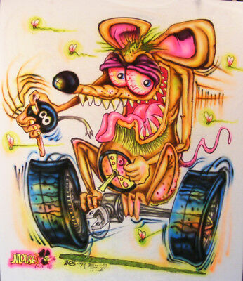JOHNNY ACE BIG DADDY Roth Rat Fink MOUSE! EQUIPPED MONSTER Shirt SPEED SHIFT