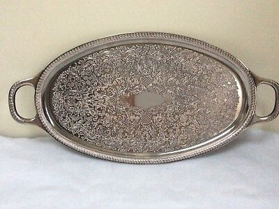 Antique Lanthe Silver Plated Tray With Handles