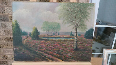Oil Painting on Board - Landscape Countryside Farming Fields Land Decorative