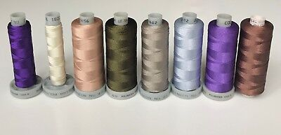MADEIRA polyneon No 40 machine embroidery threads. 8 spools.