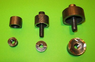 """Three imperial size Q.Max Sheet Metal Punches - USED 1 1/8""""  and 5/8"""" and 3/4"""""""