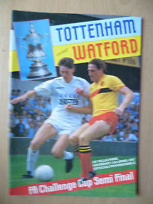 1987 FA CUP SEMI FINAL- TOTTENHAM HOTSPUR v WATFORD, 11th April