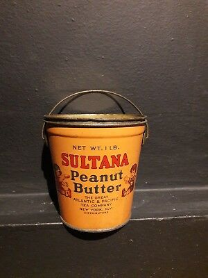 Sultana Peanut Butter 1lb Tin can. The Great Atlantic and pacific Tea Company...