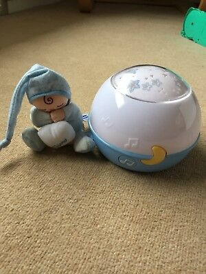 chicco next to stars night light projector blue