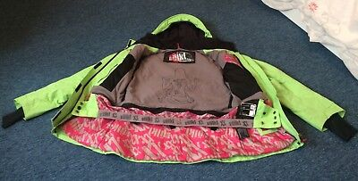 Volkl Big Mountain lime green women's skiing snowboarding jacket. Size Small