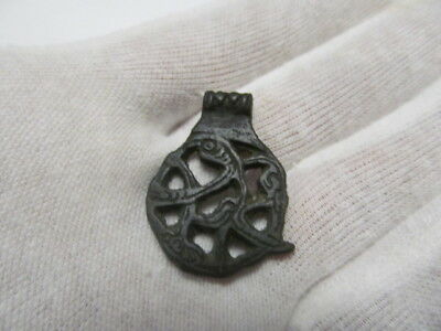 "Ancient bronze suspension ""Crash"" Vikings of the 9-11 АD № 352/4."