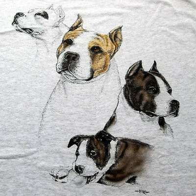 "American Staffordshire Terrier T-shirt  "" Ash "" Large ( 42 ~ 44 )"