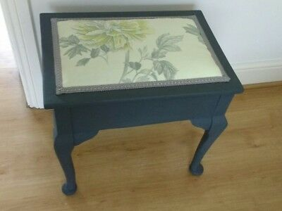 antique upcycled piano stool with storage