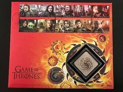 ++ Game of Thrones + 2 Silbermedaillen ++ Fire & Ice Limited Ed. ++ silver Proof