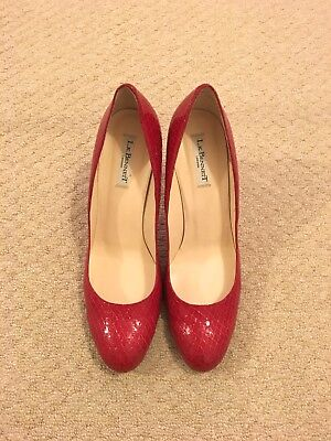 Women's L.K. Bennett Court Shoes, Red Snakeskin design, Size 42
