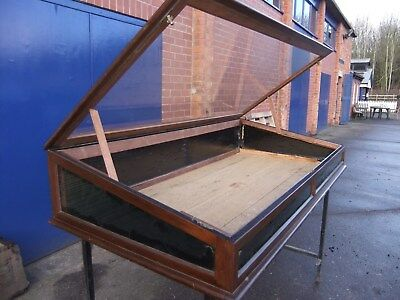 antique glass topped display cabinet