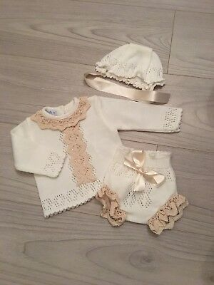 Baby Girl Knitted Outfit 6months