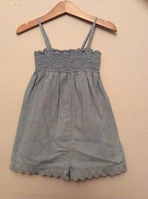 Gap Girls Denim Playsuit Jumpsuit Dungarees Summer Age 3 Years