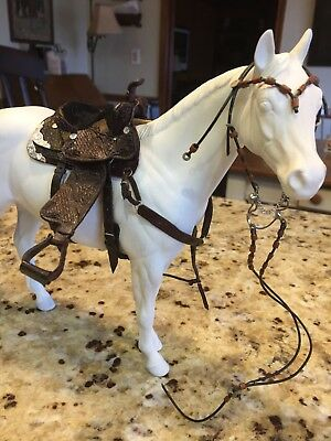 Traditional CM OOAK Breyer/Peter stone Western Saddle, two bridles, halter