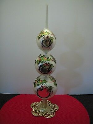"Slavic Treasures~""holiday Reflections""~Tree Topper Finial~Polish~W/tag & Box"