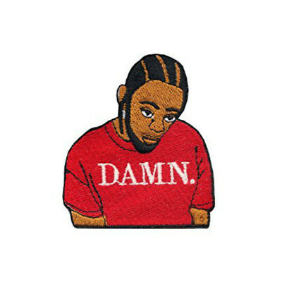 Kendrick Lamar Damn Patch (2.5 Inch) Embroidered Iron / Sew on Badge Rap Emblem