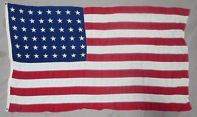 Used WW2 Vintage US 48 STAR AMERICAN FLAG 3X5 ORIGINAL