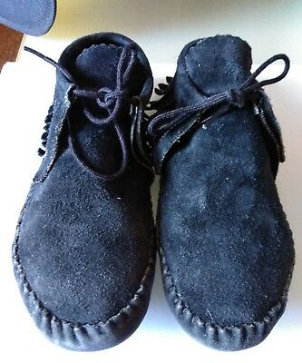 TAOS Women's Black All Leather Moccasins Size 7.5