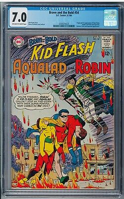 Brave and the Bold #54 CGC 7.0 Origin and 1st Appearance Teen Titans