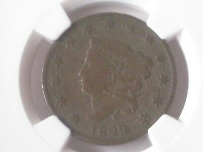 1823/2 Coronet Head 3 Over 2 Large Cent Ngc G4 + Free Shipping Best Price !!