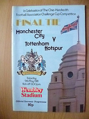 1981 FA CUP FINAL- MANCHESTER CITY v TOTTENHAM HOTSPUR (Excellent*)
