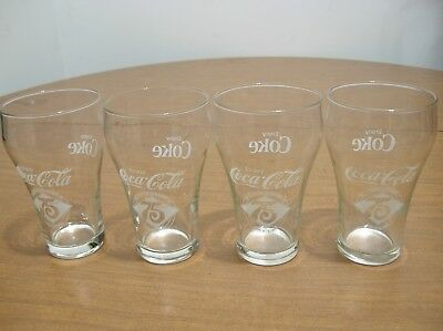 1977 Coca-Cola Coke 75th Anniversary Fountain Glass Set of 4 Shawnee