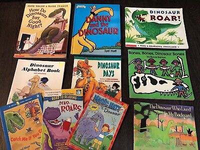 Lot 10 Dinosaur Books Fiction Science Easy Readers Read Alouds