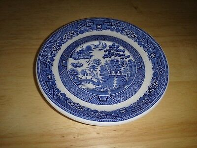 Asian Style Vintage Blue Willow Blue Saucer by Dunn & Bennett Royal Doulton