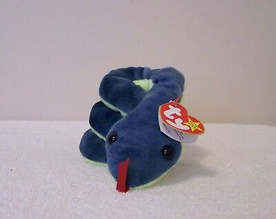 """Ty Beanie Babies Collection    """"hissy""""  Snake"""