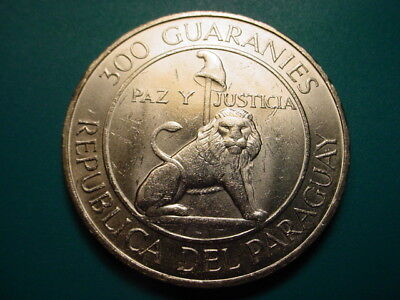 Paraguay~ Large Silver 1968 300-Guaranies in Nice Uncirculated Condition!
