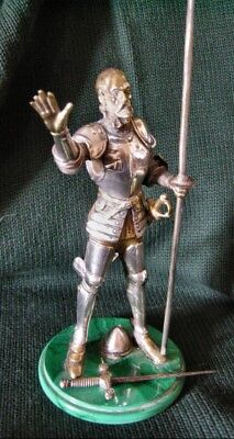 Gilt & Silver Bronze, Malachite Figure of Don Quixote c.1880-90 Faberge Design