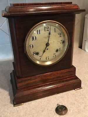 Antique Seth Thomas 4 Bell Westminster Chime Mantle Clock 1920's Sonora