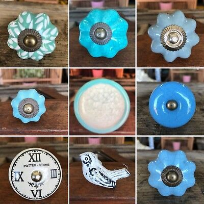 4xCeramic Pull Drawer Cabinet Handle Door Knobs Knob Cupboard Kitchen Handles