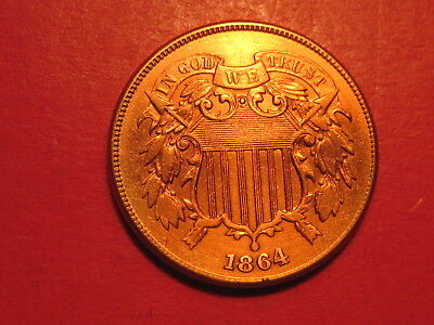 1864 Two Cent Piece Large Motto Var.