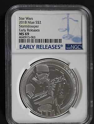 2018 Niue Silver $2 Star Wars Storm Trooper Ngc Ms69 Early Releases