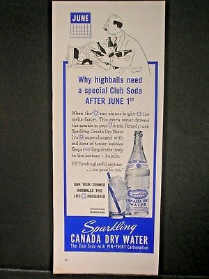 Vintage 1941 Canada Dry Ad...Sparkling Canada Dry Water.