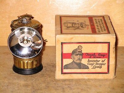 Miners  1925 GUY'S DROPPER CARBIDE LAMP with ORIGINAL BOX-New/Old Stock!