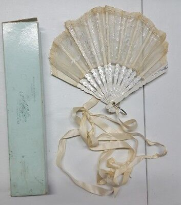 Civil War Era Hand Fan With Original Box! Nice!