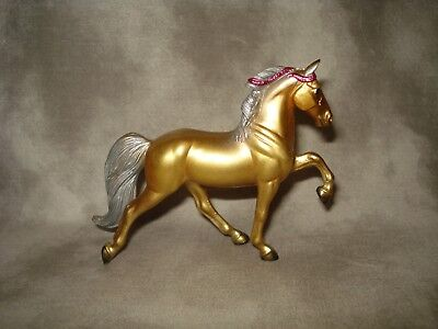 Breyer CM Glossy Decorator Gold/Silver Tennessee Walking Horse Stablemate