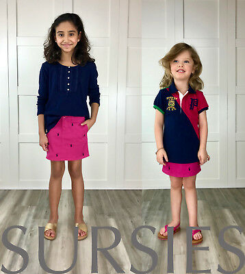 POLO RALPH LAUREN SKIRT Girls Magenta Pink Embroidered Pony Skirt ALL SIZES