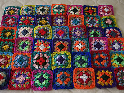 42 Beautiful Crochet Granny/nanna Squares, Motifs (A)