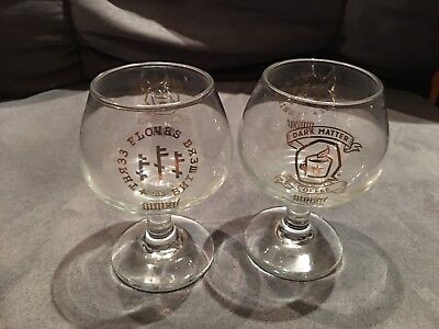 Three Floyds Dark Lord Gold Snifters Glasses 2015 DLD