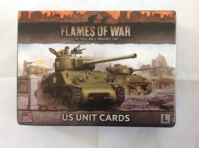 Flames of War US Unit Cards Late War