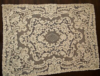 Pair of Lovely Antique French Alencon Lace Placemats