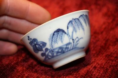Fine 18thC Chinese Qing Dynasty Blue & White KANGXI Tea Bowl Wine Cup EXC