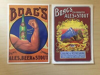 J.Boag & Son - Boag's Ales, Beer & Stout Post Cards - From Boags Brewery 1900's
